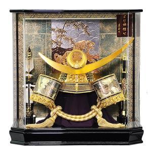 五月人形 上杉謙信 兜 ケース飾り アクリルケース 兜飾り 日輪弦月前立兜 人形の平安大新 hm12056|heiandaishin
