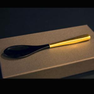 竹スプーン金箔(5本組) 漆塗り/木製/竹製|heiando