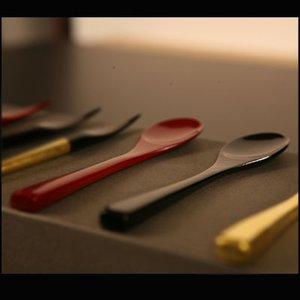 竹スプーン朱/黒(単品) 漆塗り/木製/竹製|heiando
