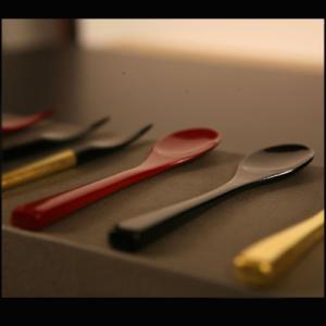 竹スプーン朱/黒(5本組) 漆塗り/木製/竹製|heiando