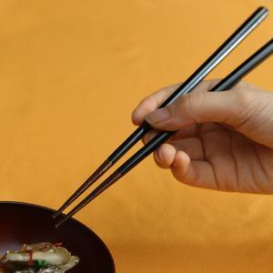 六角箸 (小)朱/(大)黒 すり漆 お箸/漆塗り/木製|heiando