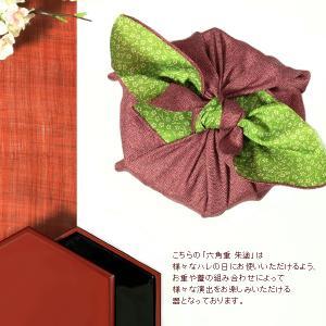 六角二段重 朱塗(取皿4枚付) 重箱/漆器|heiando|04