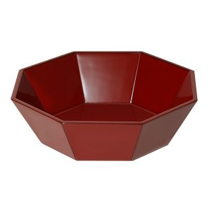 八角鉢 朱塗(木箱入)|heiando