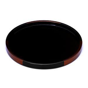 丸盆 白檀(小) お盆/木製/漆器/黒|heiando