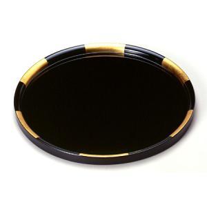 丸盆 金市松(大) お盆/木製/漆器/黒|heiando