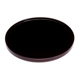 丸盆 溜 (大) お盆/漆塗り/木製|heiando
