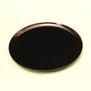丸盆 帯白檀 お盆/漆塗り/木製|heiando