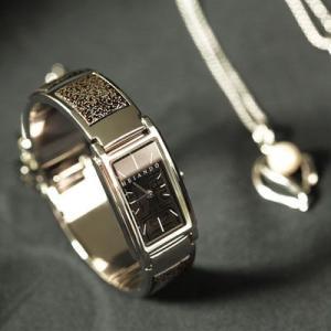バングルウォッチ 銀研出 腕時計/漆塗り/漆器/ジュエリー|heiando