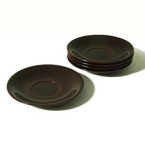 茶托 溜(5枚組) 漆器/木製/コースター|heiando