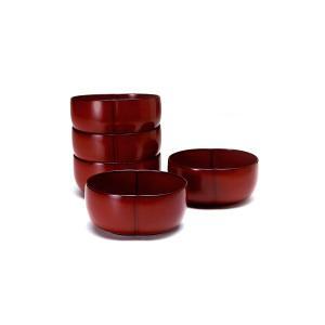 ふくら小鉢(5個組)和食器/取り鉢/漆塗り|heiando