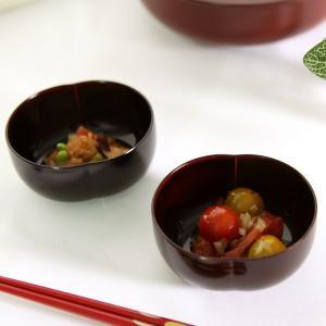ふくら小鉢 溜(ペア) 和食器/取り鉢/漆塗り|heiando
