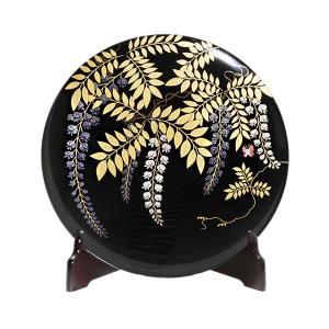 飾皿 藤蒔絵(皿立て付/木箱入)|heiando