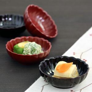 ペア菊小鉢 古代朱/溜 和食器/漆塗り|heiando