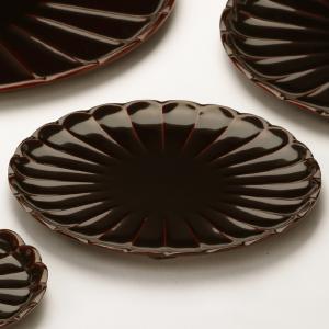 菊皿 溜(5寸) 香典返し/引き出物/ギフト/漆器/漆塗り/皿|heiando