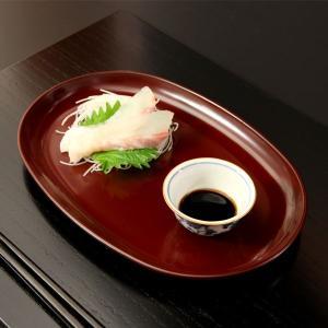 小判皿 古代朱(大)|heiando