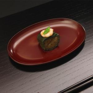 小判皿 古代朱(小)|heiando