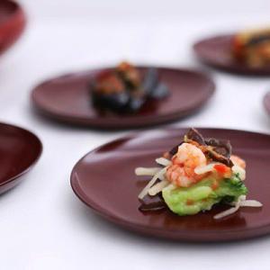 丸小皿揃 古代朱(5枚組) 和食器/漆塗り heiando