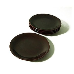 銘々皿 溜(5枚組) 菓子皿/漆塗り/漆器|heiando