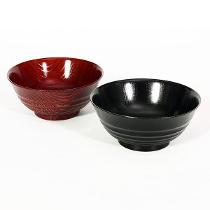 めし椀 欅平筋(けやきひらすじ) あかね/神代 お椀/漆塗り/木製|heiando