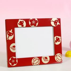 七五三にも 写真立 ひな祭り フォトフレーム/漆塗り/木製|heiando