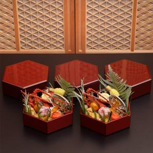 【送料無料】【WEB限定】六角小重5個セット 朱塗(化粧箱入)|heiando