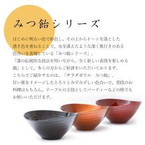 サラダボウル みつ飴 よもぎ/みたらし/ニッキ 漆器/鉢/楕円形|heiando|02