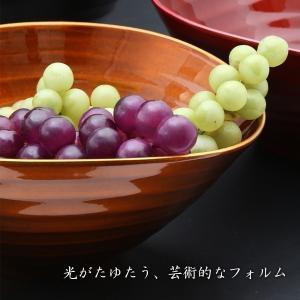 サラダボウル みつ飴 よもぎ/みたらし/ニッキ 漆器/鉢/楕円形|heiando|03