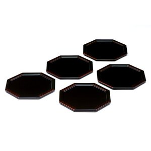 八角銘々皿 白檀 (5枚組) 菓子皿/漆塗り/漆器 heiando