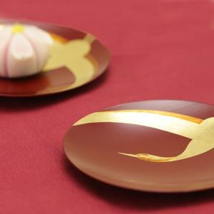 銘々皿 翔鶴(5枚組:木箱入り) 菓子皿/漆塗り/漆器|heiando