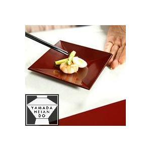 四方小皿揃 古代朱(5枚組) 和食器/漆器 heiando