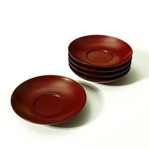 茶托 朱塗(5枚組) 漆器/木製/コースター|heiando