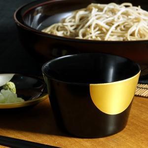 蕎麦猪口(皿付) 日月(朱/黒) そば猪口/漆塗り|heiando