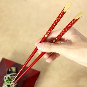 天削箸 夫婦(めおと) 春秋蒔絵 お箸/漆塗り/ペア/夫婦箸|heiando|02