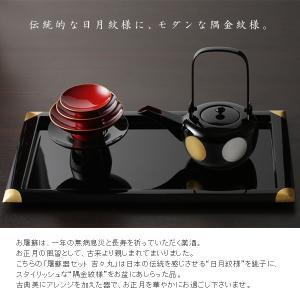 屠蘇器セット(銚子 吉々丸+三ツ組盃+長角盆 隅金) |heiando|02