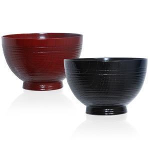 汁椀 鉋筋(ペア) お椀/漆塗り/木製|heiando