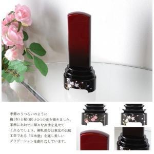 玉虫塗 うつろい 梅・桜 4.5寸