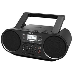 ソニー SONY CDラジオ Bluetooth/FM/AM/ワイドFM対応 語学学習用機能 電池駆動可能 ブラック ZS-RS81BT|heiman