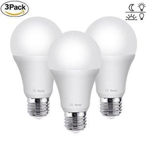 LED電球 あかりセンサー付 E26/E27口金 7W 60W形相当 昼白色 6500K 常夜灯 暗くなると自動で点灯 明るくなると自 heiman
