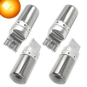 T20 LED ウインカー ステルスバルブ ハイフラ防止 抵抗内蔵 アンバー オレンジ 7440 W21W WY21W   キャンセラー内蔵|heiman