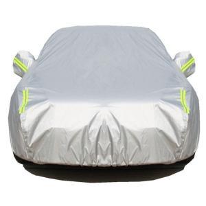 ボディカバー 車 裏起毛 防水 防塵 防輻射紫外線 黄砂対策 光反射警告テープ付き 車カバー (ハッチバック2L: 440*180*160CM)|heiman
