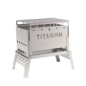 笑's 焚き火台 Mr.B-6 All Titanium Grill plate set2 SHO-...