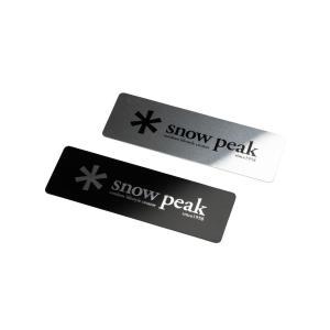snow peak/スノーピーク メタルロゴステッカーセット    強い粘着力のある、アルミ製のロゴ...