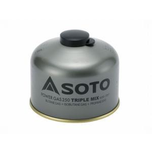 SOTO/ソト パワーガス250トリプルミックス SOD-725T   プロパン、イソブタン、ノルマ...