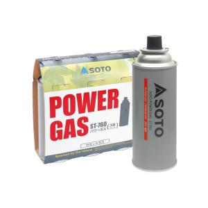 SOTO/ソト SOTOパワーガス 3本パック ST-7601  プロパン混入のパワーガス   1....