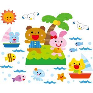 壁面飾り おさかないっぱい夏の海 A3...