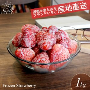 愛知県田原産100%。おいしさそのまま瞬間冷凍しました。  苺の美味しい季節に収穫した朝摘み苺をその...
