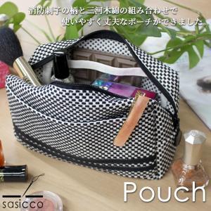 sasicco ポーチ 小物入れ 化粧道具入れ 筆記用具|heliosholding