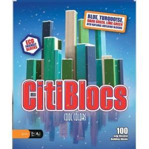 木製ブロック CitiBlocs シティブロックス クールカラーセット100ピース