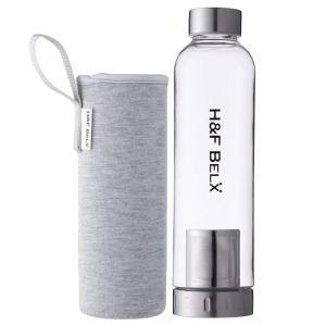 H&F BELX ティータンブラー(M 550ml)-軽量茶こし付き水筒- (ライトグレー)
