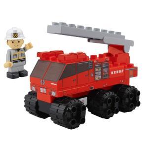 BlockLabo ブロックラボ ビークルブロック ビッグはしご車ブロックセット